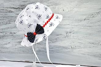 Detské čiapky - Letný širák Kvietky & folk - 9677822_