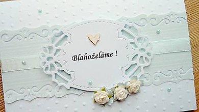 Papiernictvo - svadobné blahoželanie - 9677181_