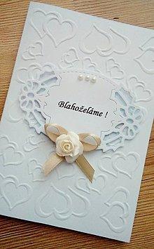 Papiernictvo - svadobné blahoželanie - 9677194_