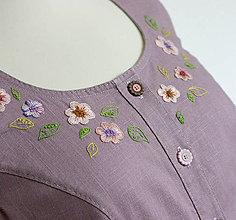 Šaty - ľanové šaty - 9675444_