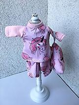 - Pyžamko pre bábiku s vankúšikom- 25-27 cm. - 9677673_