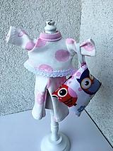 - Pyžamko pre bábiku s vankúšikom- 25- 27 cm. - 9677676_