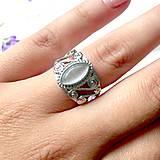 - Vintage Cat Eye Ring / Vintage prsteň so synt. mačacím okom /0154 - 9679093_