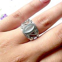 Prstene - Vintage Cat Eye Ring / Vintage prsteň so synt. mačacím okom - 9679093_