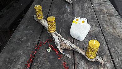 Svietidlá a sviečky - Drevený svietnik z náplavového dreva - 9678994_