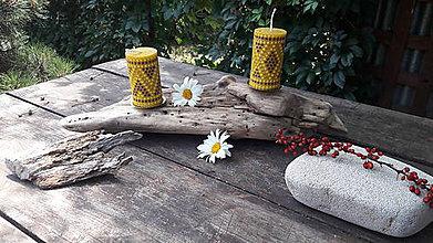 Svietidlá a sviečky - Drevený svietnik z náplavového dreva - 9679092_