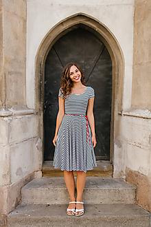 Šaty - Bamboo šaty Osudová Marta pruhovaná - 9677964_