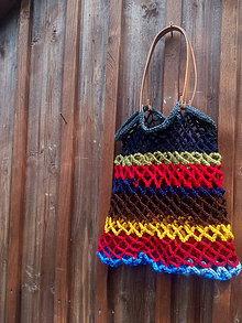 Nákupné tašky - Farebná sieťovka zbytkovka - 9680203_