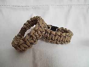 Šperky - Paracordový náramok - svetlohnedý - 9678293_