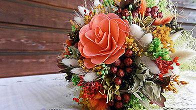 Dekorácie - Malá oranžová kytička - 9680333_