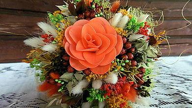 Dekorácie - Malá oranžová kytička - 9680335_