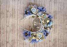 Ozdoby do vlasov - Svadobná kvetinová parta z kolekcie pre Lydiu Eckhardt - 9677863_