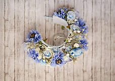 Ozdoby do vlasov - Svadobná kvetinová parta z kolekcie pre Lydiu Eckhardt - 9677864_