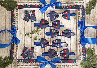 Doplnky - Vianočná akcia: Folk motýlik modrý - 9679177_