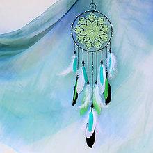 Dekorácie - Lapač snů zelený - 9678942_