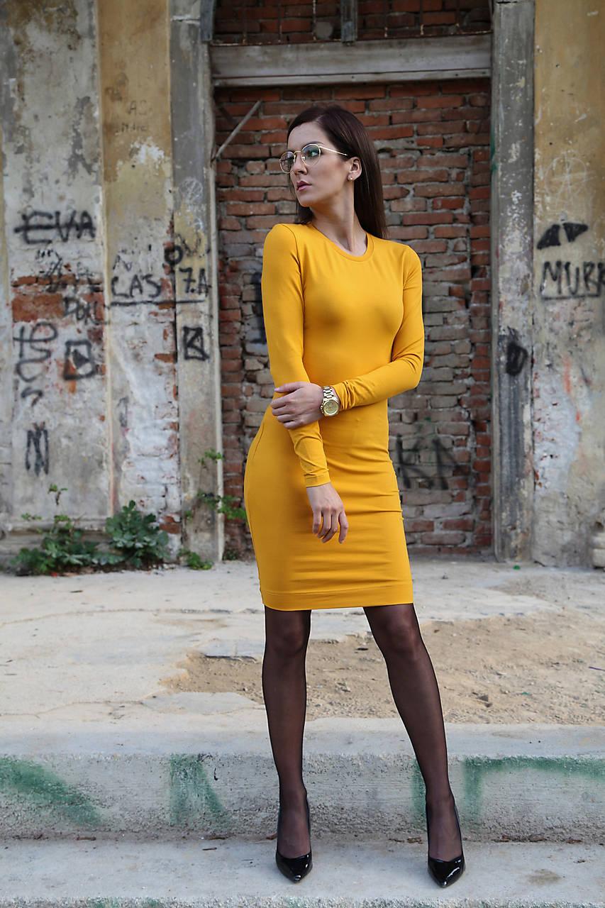 Biznis šaty v okrovej farbe.   veronikaIN FASHION - SAShE.sk 33c1641ad15
