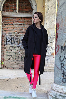 Kabáty - Čierny maxi kardigan. - 9678774_