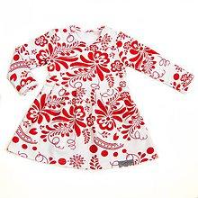 Detské oblečenie - Šaty - white/red folk - 9678591_