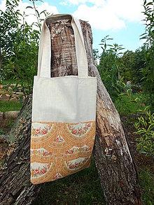 Nákupné tašky - květinová vintage taška - 9679823_