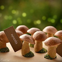 Darčeky pre svadobčanov - Hríbiky v machu - darčeky pre svadobčanov/menovky - 9679075_