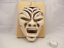 Dekorácie - Maska Hnev (svietnik) - 9680050_
