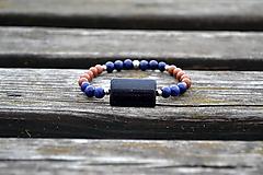 Lapis lazuli a piesok náramok