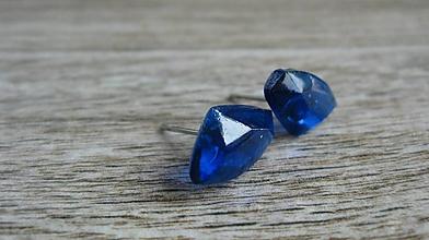 Náušnice - Geometric - chirurgická oceľ (modré č. 2253) - 9678530_