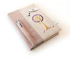Papiernictvo - Zápisník Strom vo fialovej - A5 - 9678233_