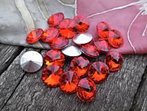 - Rivolka - sklenený kabošon (Oranžovo-fialovo-modrá) - 9680494_