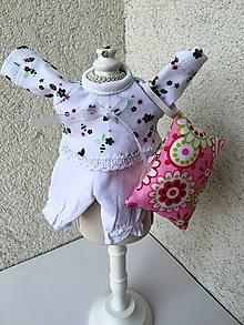Hračky - Pyžamko pre bábiku s vankúšikom.- 25-27 cm. - 9678948_