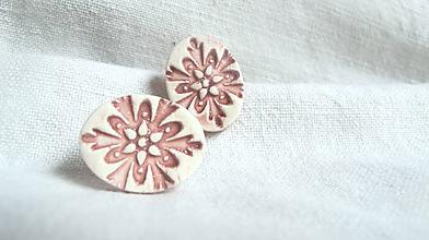 Náušnice - ornamenty - staroružová - 9681538_