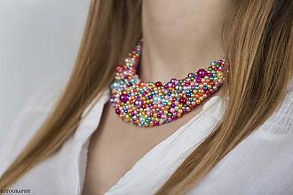Náhrdelníky - Pestrofarebný náhrdelník  (Klasický) - 9682220_