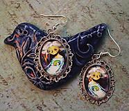 Náušnice - Bumpkinovej šperk/ Dušička veľmi múdra - 9681917_