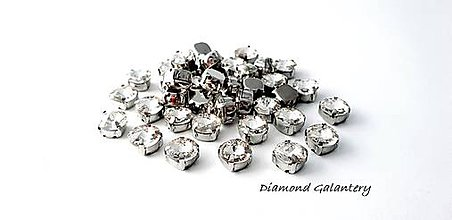 Galantéria - Ozdobné kamienky našívacie 8 mm - Crystal - 9681299_