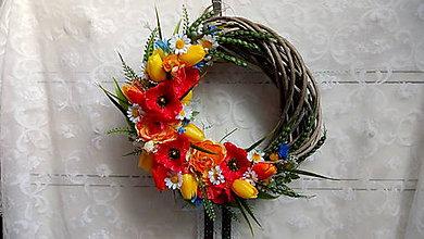 Dekorácie - Poľné kvety... veniec - 9682243_