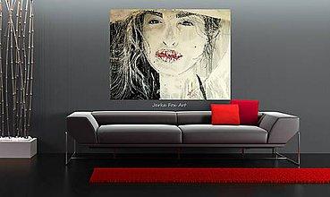 """Obrazy - """"FEEL THIS MOMENT"""" - portrét na objednávku - 9681533_"""