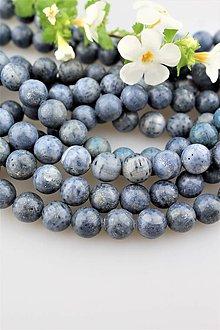 Minerály - modrý koral korálky 10mm - 9682176_
