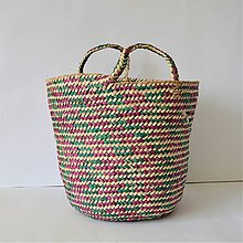 Košíky - Staromódny štýl, Pletený palmový kôš - 9681497_