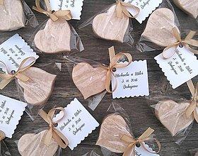 Darčeky pre svadobčanov - Svadobná plávajúca sviečka - vanilkové srdiečko - 9681328_