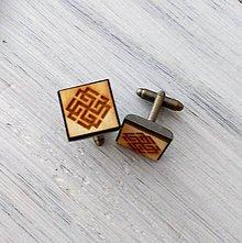 """Šperky - Manžetové gombíky """"Svarožič"""" prírodné (Meď/Bronz) - 9681376_"""