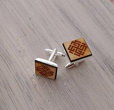 """Šperky - Manžetové gombíky """"Svarožič"""" prírodné (Strieborná) - 9681379_"""