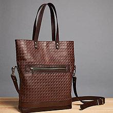 Kabelky - Kožená dámska taška. Taška cez rameno. - 9681632_