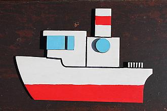 Detské doplnky - 3D magnetka loďka - 9680945_