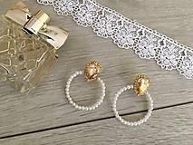 Kruhové perličkové náušnice Pearl Circle