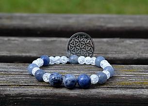 Náramky - náramok s kvetom života - modrý - 9682249_