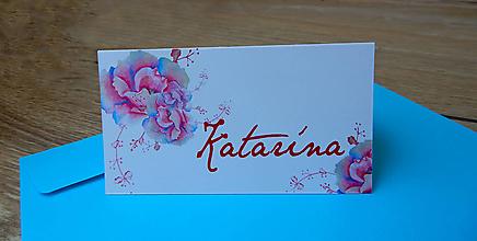Papiernictvo - Svadobné menovky - Katarína - 9682052_