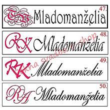 Iné doplnky - Svadobná špz-plastová tabuľka - možnosť zmeny fontu, textu, bez SK znaku - 9682359_