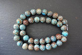 Minerály - Jaspis modrý 10mm - 9681663_