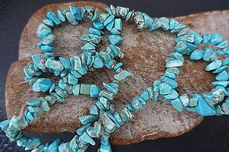 Minerály - Tyrkys svetlý farbený zlomky - 9682025_