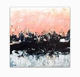 Obrazy - abstraktný obraz, Sun-bright Split, 79x79 - 9681938_